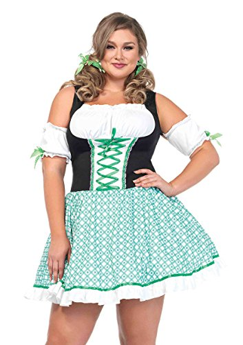 Full Figure Plus Size Clover Cutie St. Patricks Day Dress Costume - Womens St Patricks Day Costumes