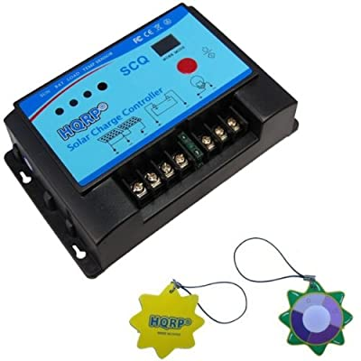 HQRP 20A Solar Charge Controller 12/24v with External Temperature Transmitter and LED/LCD Display for Solar Street Light Systems plus HQRP UV Meter