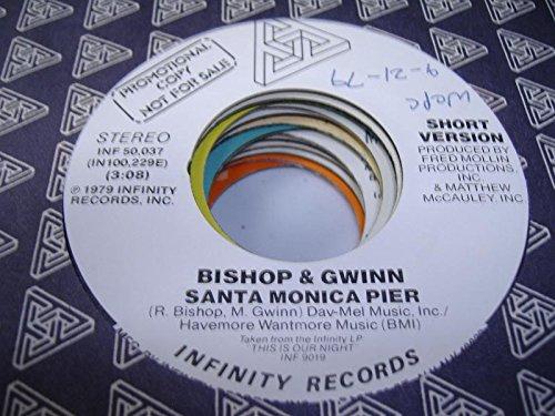BISHOP & GWINN 45 RPM Santa Monica Pier / - Monica Malls Santa