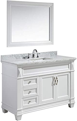 Design Element DEC059B-W-W Hudson 48-inch Bathroom Vanity Set in White,