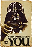 "Star Wars - Movie Poster / Print (Darth Vader: Your Empire Needs You) (Size: 24"" x 36"") (Black Poster Hanger)"