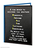 Funny Rude Cheeky 'Brother Acronym' Birthday Greeting Card