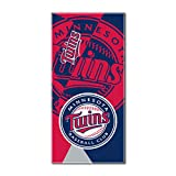 """Officially Licensed MLB Minnesota Twins Puzzle Beach Towel, 34"""" x 72"""""""