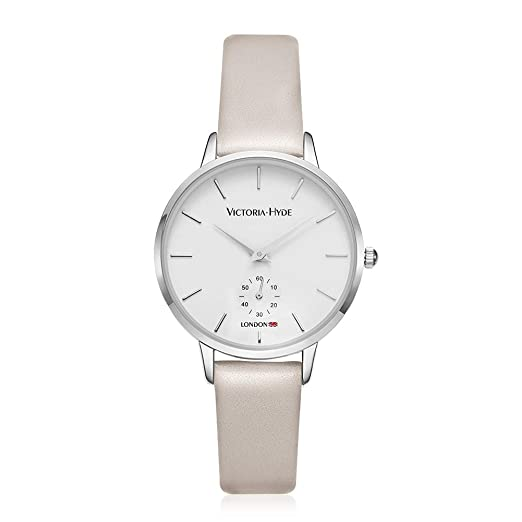 53470122e9741 VICTORIA HYDE Classic Women Watches With Second Hand White Dial Replaceable  Leather Band Beige For Ladies Waterproof  Amazon.co.uk  Watches
