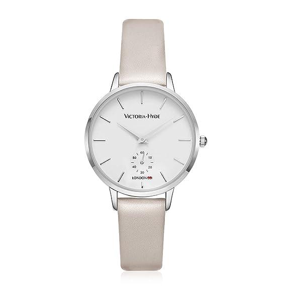 ed9dad1ee VICTORIA HYDE Reloj De Pulsera para Mujer Reloj De Análogo Cuarzo Correa de  Cuero: Amazon.es: Relojes