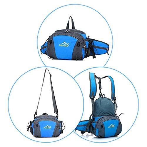 Cheerlife Unisex Hüfttasche Rucksack Umhängetasche Multifunktional Outdoor Sport Taschen Wandern Radfahren Reiten Bergsteigen Reisetaschen (Rot) Orange ISdmc