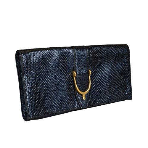 Gucci Women's Blue Python Skin Clutch Handbag Bag by Gucci