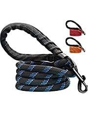 Candure Dog Lead with Soft Padded and Anti Slip Comfortable Rope Handle, 5 FT Strong Dog Leads, Highly Reflective Dog Leash for Puppy, Medium and Large Dogs (Black)