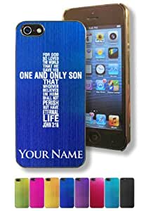 Apple iphone 4s Case/Cover - BIBLE VERSE, JOHN 3:16 - Personalized for FREE (Click the CONTACT SELLER button after purchase and send a message with your case color and engraving request)