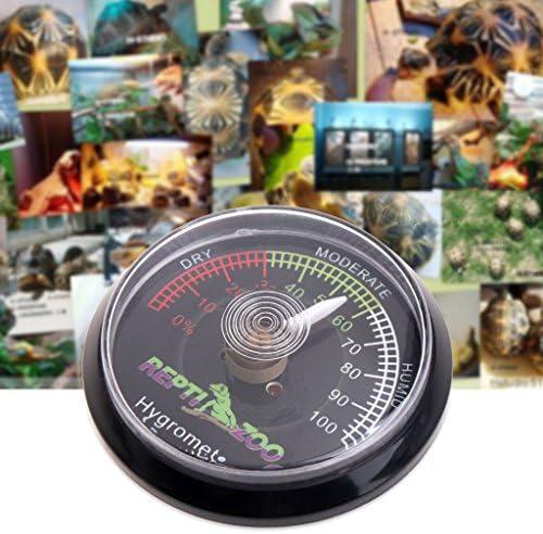 JENOR Reptile Tortoise Terrarium Vivarium Hygrometer Humidity Meter Gauge Rearing Box