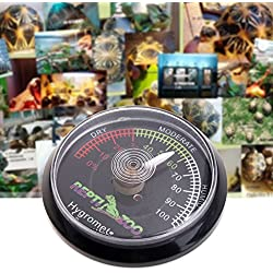 Cencity Reptile Tortoise Terrarium Thermometer Hygrometer,Dial Gauges Pet Rearing Box Thermometer Hygrometer for Terrariums and Aquariums