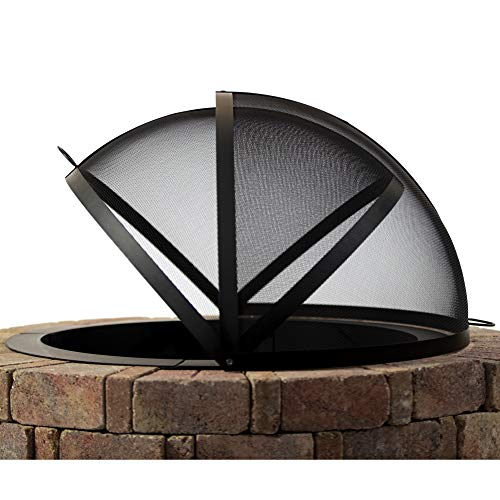 Hampton's Buzaar 40 Inch Fire Pit Easy Access Spark Screen