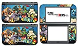Pikachu Ash Friends Snorlax Charizard Video Game Vinyl Decal Skin Sticker Cover for the New Nintendo 3DS XL LL 2015 System Console