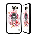 Official Monika Strigel Wolf Animals And Flowers Hybrid Case for Samsung Galaxy A9 (2016)