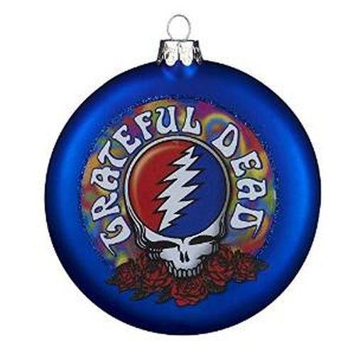 (Kurt Adler Glass Grateful Dead Disc Ornament,)