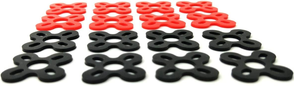 EUDAX 72 PCS FPV Black Sponge Mat Landing Skid Pad Gear Anti-Vibration Shockproof Foam Sticky Tape and 16 PCS Motor Spacer Shock Absorber Pads Damper Vibration Damping Washer Silicone Material