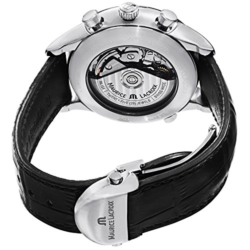 Maurice Lacroix Les Classiques Chronographe Phases de Lune Men's Silver Dial Automatic Swiss Made Watch LC6078-SS001-131