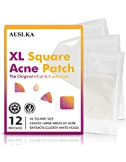 """AUSLKA Acne Pimple Patches Large XL Size- 2""""x2"""" (12 Patches), Blemish Spot Dots for Face Zit Patch Dots, For Larger Breakouts On Body or Face."""