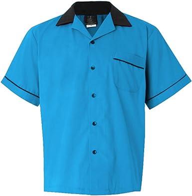 Candow Look Moda Hombre Camisa 60s Retro Design Men Shirt