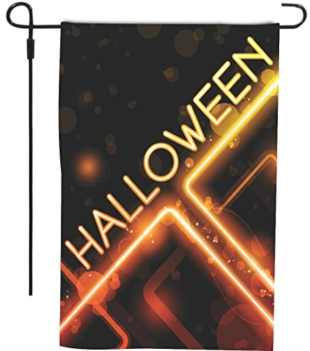Rikki Knight Halloween Neon Orange Fire Glow Sign Design Dec