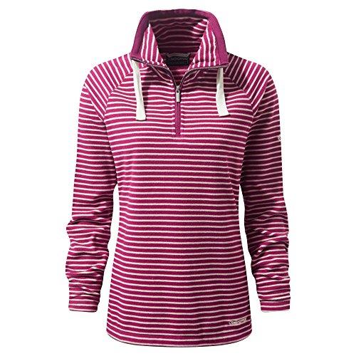 Craghoppers Womens/Ladies Rhonda Half Zip Polyester Fleece Jacket Coat Rosa