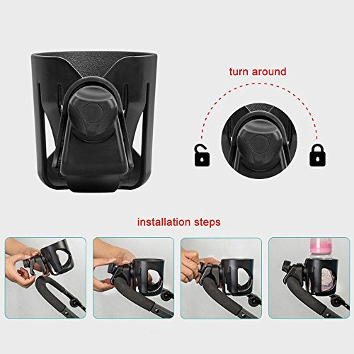 Stroller Cup Holder, Leegoal Cup Holder for Pushchairs Pram Buggy, Universal Pushchair Cup Holders for Baby Bottles, Drinking Cups, Beverage by Leegoal (Image #5)