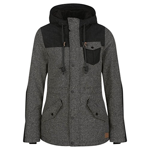 O'Neill Venus Womens Insulated Snowboard Jacket - Large/Pirate Black (Female Pirate Jacket)