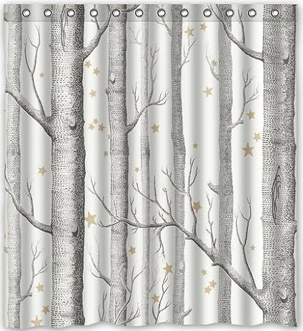 Popular Design Birch Tree Shower Curtain 66u0026quot;(w) X 72u0026quot;(h