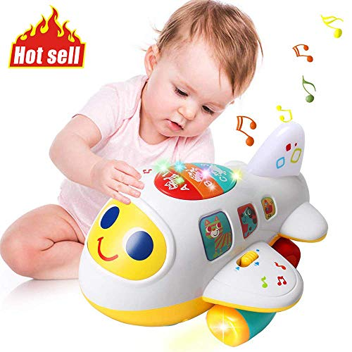 HOMOFY Baby Toys Electronic Airplane Toys with Lights & Music ,Best Kids Early Learning Educational Toys for Toddlers Boys and Girls 1 2 3 4 5 Year Old Gifts (Talking Action Pilot)