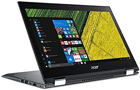 """Acer Spin 5 SP513-52N-85DC, 13.3"""" Full HD Touch, 8th Gen Intel Core i7-8550U, Amazon Alexa Enabled, 8GB DDR4, 256GB SSD, Convertible, Steel Gray"""