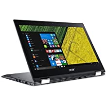 "Acer Spin 5 SP513-52N-85DC, 13.3"" Full HD Touch, 8th Gen Intel Core i7-8550U, Amazon Alexa Enabled, 8GB DDR4, 256GB SSD, Convertible, Steel Gray"