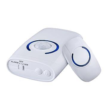 VicTop timbre inalámbrico puerta y sensor PIR sensor de movimiento de alarma de seguridad con luz