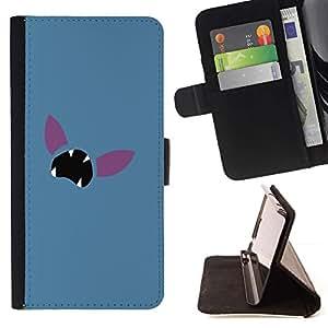 Momo Phone Case / Flip Funda de Cuero Case Cover - Minimalist Poke Face - Sony Xperia M2