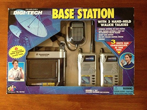 Hand Held Walkie Talkies with 6 Transistor Base Station & Morse Code - Vintage Digi-Tech 1998 - 3 Person Toy -  DSI Toys