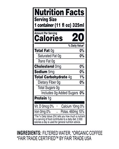 Wandering Bear Organic Cold Brew Coffee On-the-Go 11 oz Carton, Straight Black, No Sugar, Ready to Drink, Not a Concentrate (Pack of 12) by Wandering Bear (Image #7)