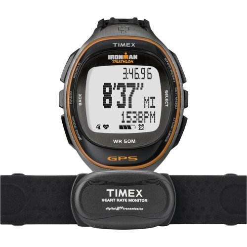 Timex Full-Size T5K575 Ironman Run Trainer GPS HRM Watch