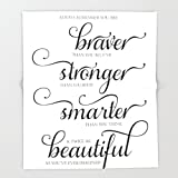 Society6 Always Remember - Printable art wall decor, Inspirational quote Throw Blankets 88'' x 104'' Blanket
