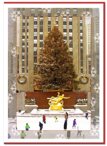 Rockefeller Center Ice Skating Rink. New York Christmas Cards - Set of 6 Cards with Envelopes. Christmas in New York Collection ()
