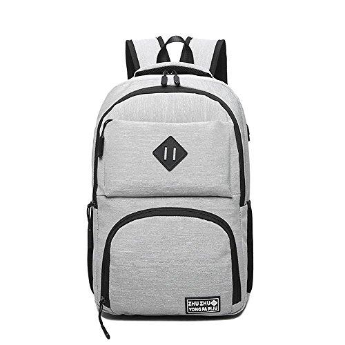 Aoligei Affaires multifonctionnel toile sac à dos double épaule-laptop Bag USB Interface A