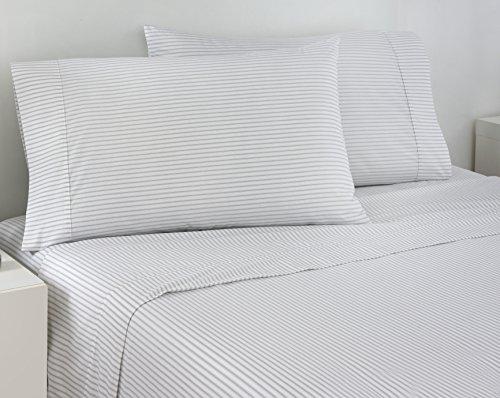 IZOD Grey Ticking Stripe Full Sheet Set - Ticking Striped