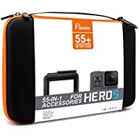 Pieviev Accessories Case Kit for Go pro (55+ Items,Included HERO5 Black Frame)
