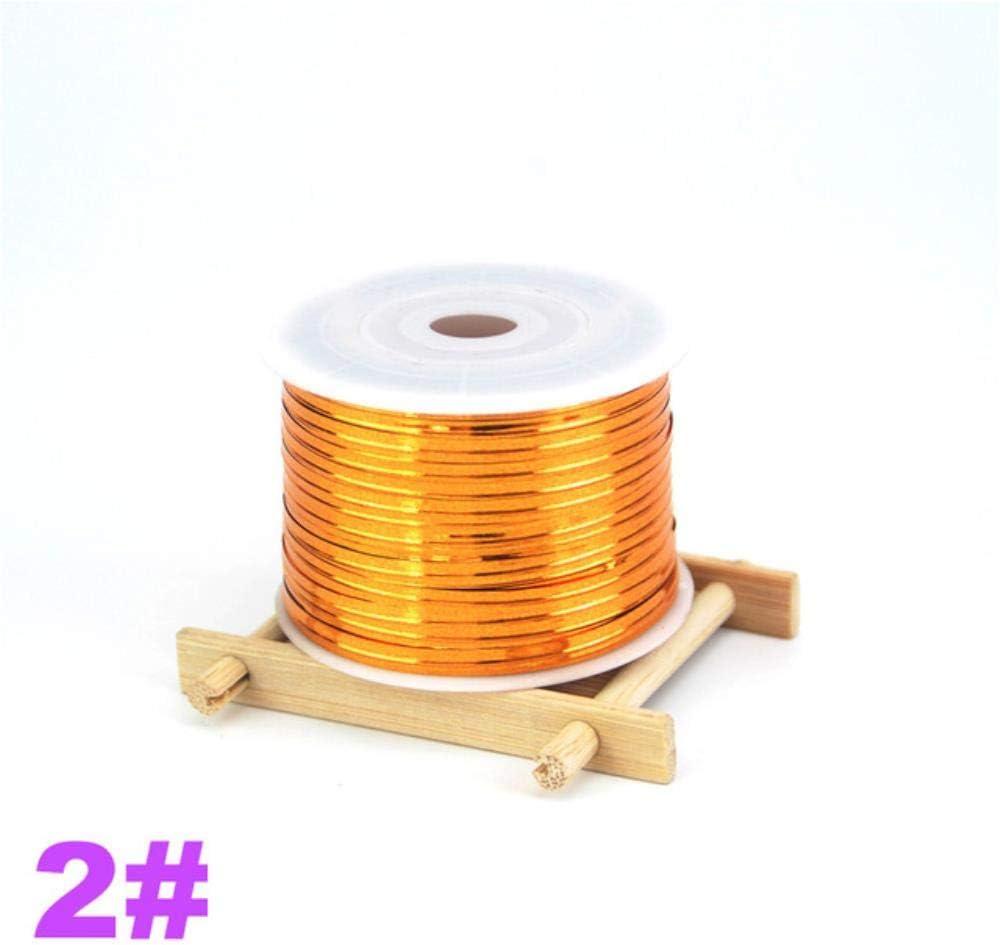 Top 100 Yardas//Rollo Oro Plata Lustrous Metalic Twist Ties para Lollipop Cello Bolsas Embalaje de Regalo Materiales de Bricolaje DS228,2