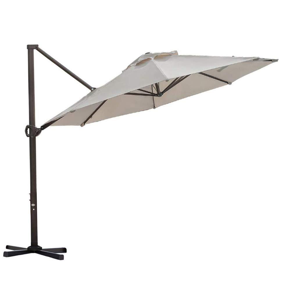 Abba Patio 11-Feet Aluminum Offset Cantilever Umbrella with Cross Base (11', Beige) by Abba Patio