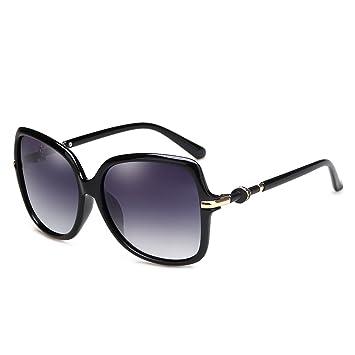 LLZTYJ Sonnenbrille/Wind/Licht/Auto/Geburtstag/Geschenk/Dekoration/Polarisiert/Sonnenbrille/Weibliches Rundes Gesicht/Sonnenbrille/Runde Brille, Hell A Schwarz