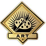 PinMart's Black and Gold Art Student School Teacher Lapel Pin