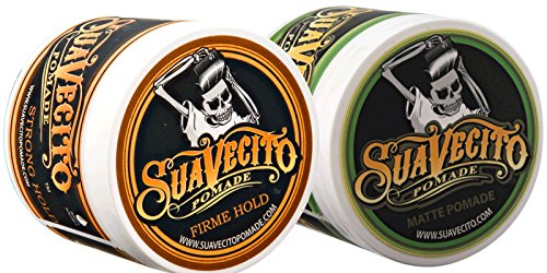 Suavecito Duo Bundle. Original Firme (4 oz) and Matte Pomade (4 oz) Variations. Strong Hold Styling Hair Pomades for Men.,2 Pack
