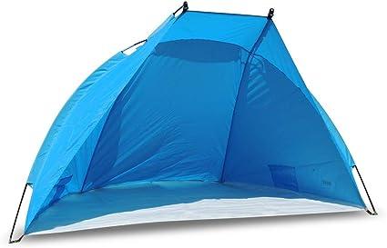 outdoorer Tienda de Playa Helios, Azul, protección UV de 80, Ultraligero, tamaño Plegado Muy Compacto