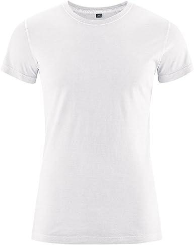 HempAge - Camiseta de cáñamo y algodón orgánico para hombre blanco L: Amazon.es: Ropa y accesorios