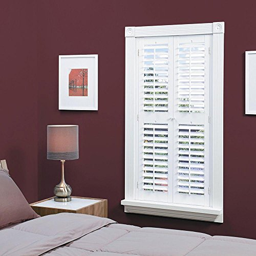 n Faux Wood White Interior Shutter (Price Varies by Size) ()