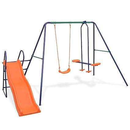 Tidyard Outdoor Spielhaus Set Mit Leiter Rutsche Und Schaukeln